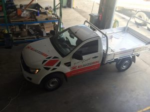 All Access lifting ute onsite installation